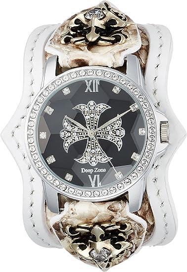[ディープゾーン] 腕時計 ALBW-041 メンズ ホワイト