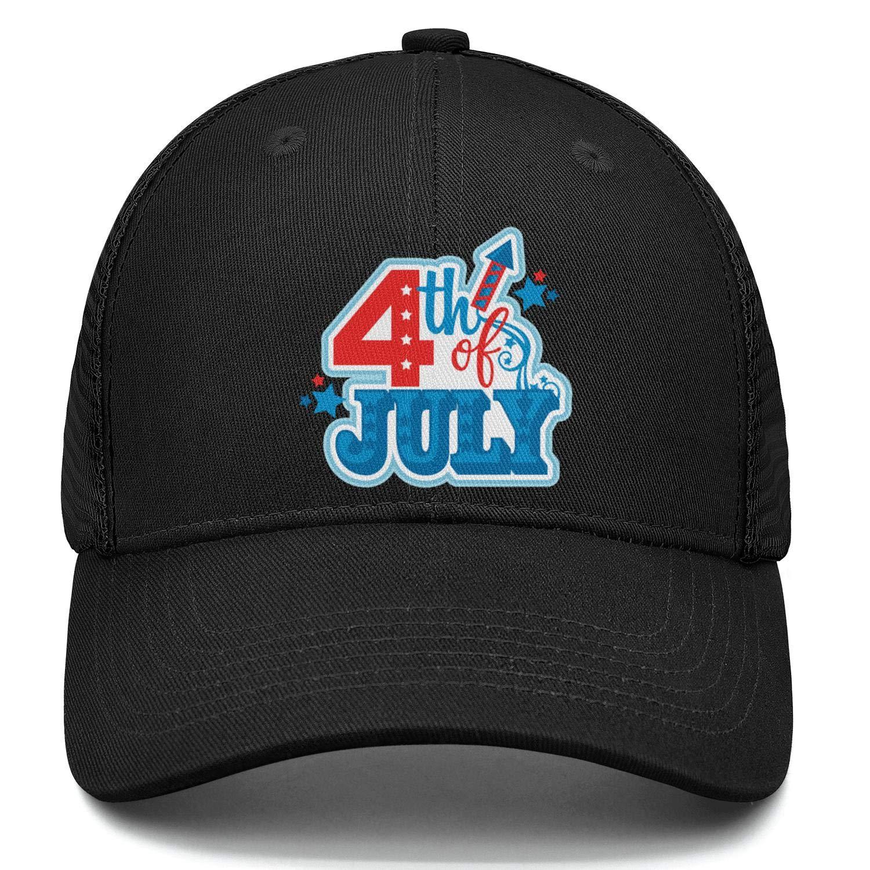 NNJA 4th of July American Flag Vector Unisex Trucker Curved Low Profile Superlite Snapback Hat