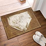 NYMB Sports Decor Home Plate Baseball Bath Rugs, Non-Slip Floor Entryways Outdoor Indoor Front Door Mat,16X24 Inches Bath Mat