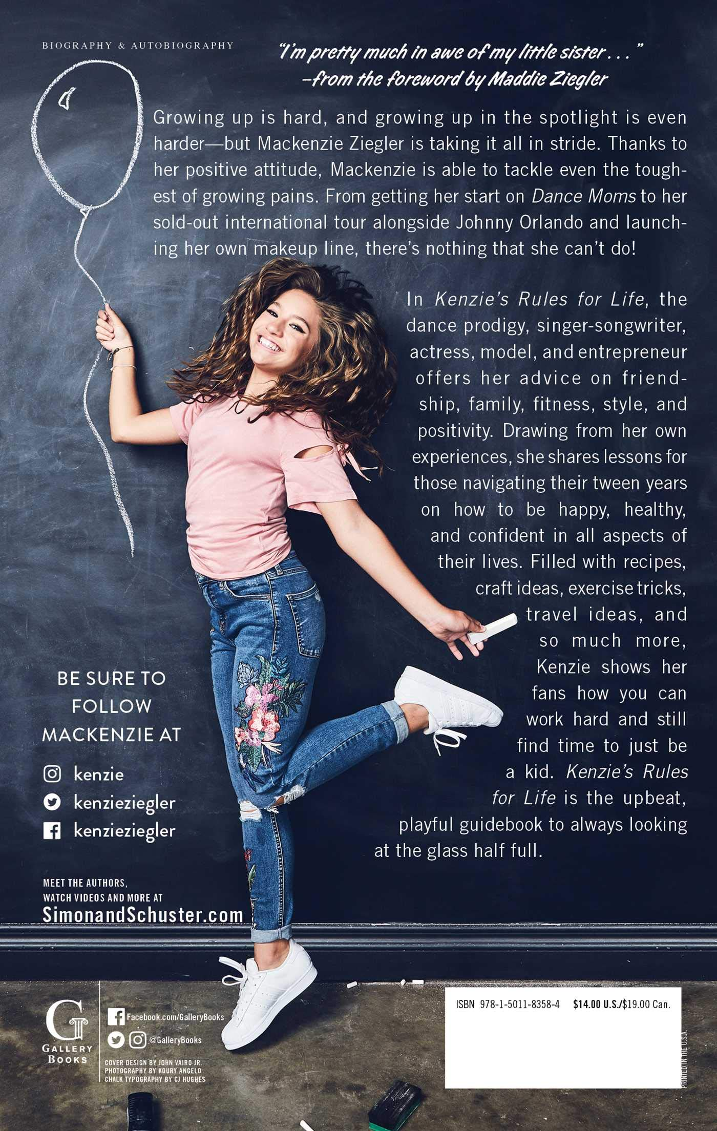 Amazon.com: Kenzie's Rules for Life: How to Be Happy, Healthy, and Dance to Your  Own Beat (9781501183584): Mackenzie Ziegler, Maddie Ziegler: Books
