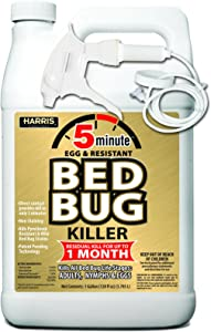 HARRIS 5 Minute Bed Bug Killer, Odorless and Non Staining Formula (128oz)