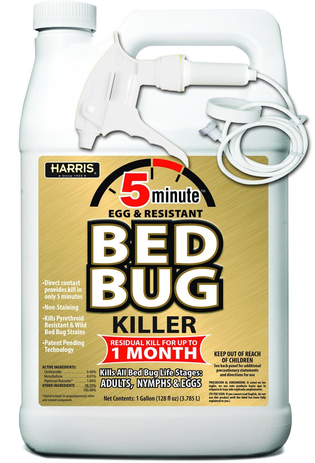 Harris 5 Minute Bed Bug Killer, Odorless & Non Staining Formula (128oz)