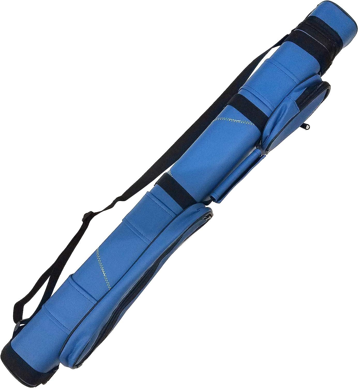 Iszy Billiards Funda de Transporte para Taco de Billar de 2 x 2 Pulgadas ct-2x2-bluewhite, Azul Blanco: Amazon.es: Deportes y aire libre