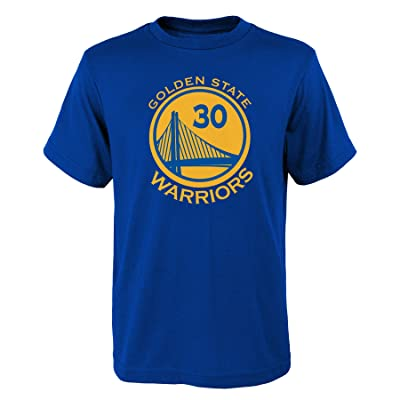 OuterStuff Steph Curry #30 Golden State Warriors Blue Dri Fit Name and Number Youth Shirt