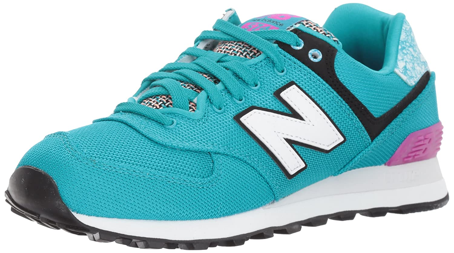 New Balance Women's 574v1 Art School Sneaker B01MQLRY6C 12 D US|Pisces/Poisonberry