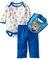 Bon Bebe Baby-boys Newborn Beary Cute 3 Piece Pant Set