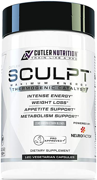 SCULPT Fat Burner Diet Pills: Best Weight Loss Energy Pills and Maximum Strength Thermogenic Metabolism Booster