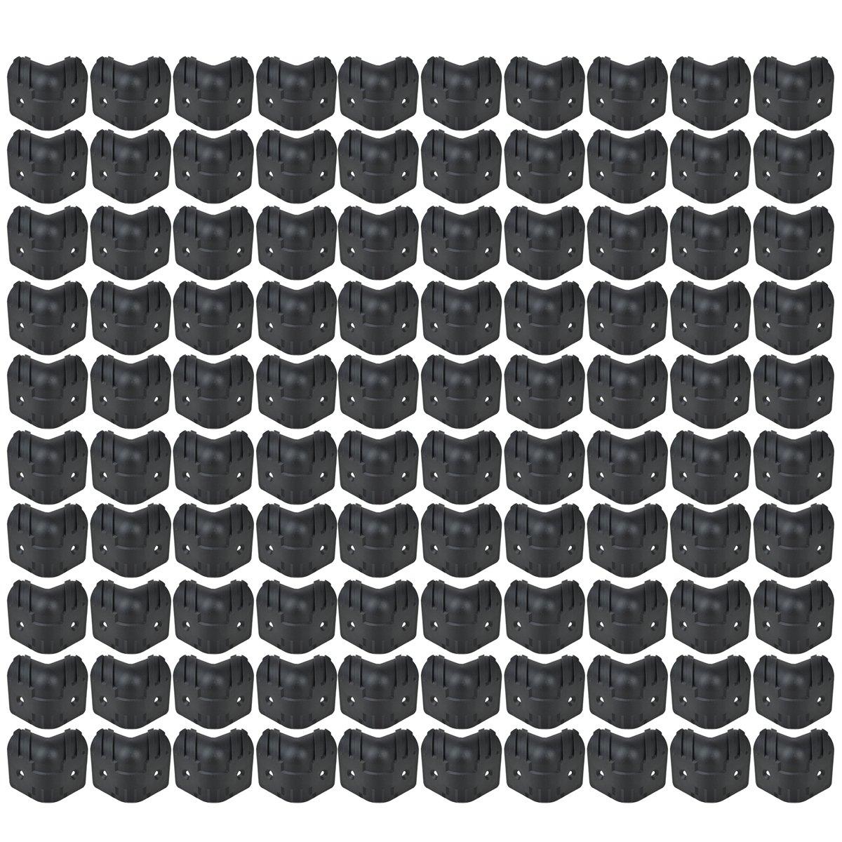 Kmise Black Hard Plastic Guitar Amp Cabinets Amplifier Speaker Cabinet Corner Protectors L Pack of 100