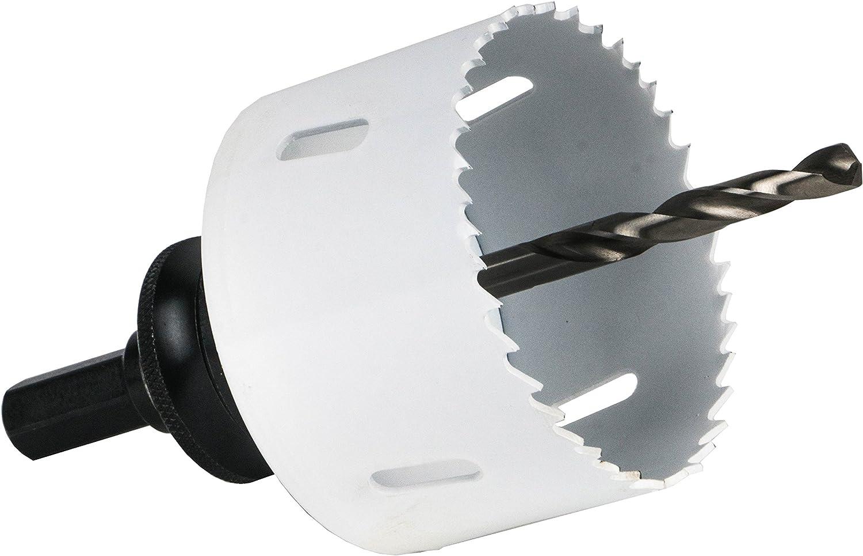 f/ür Stahl//Gu/ß//Bunt- und Leichtmetalle//Holz mit N/ägeln etc Einzeln, /Ø 14 mm HSS M42 Bi-Metall Lochs/äge Schnitttiefe 45 mm