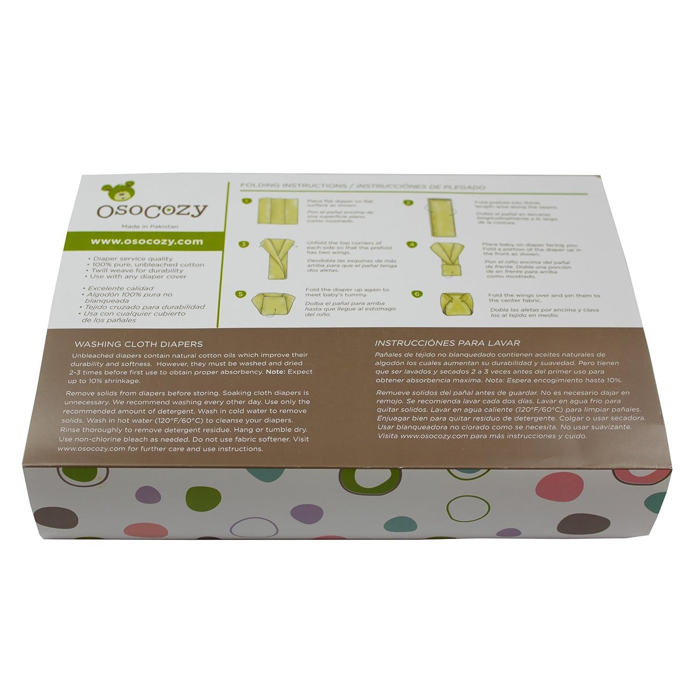 OsoCozy - Pañales de tela predoblados sin blanqueantes (talla 1, 6 unidades): Amazon.es: Salud y cuidado personal