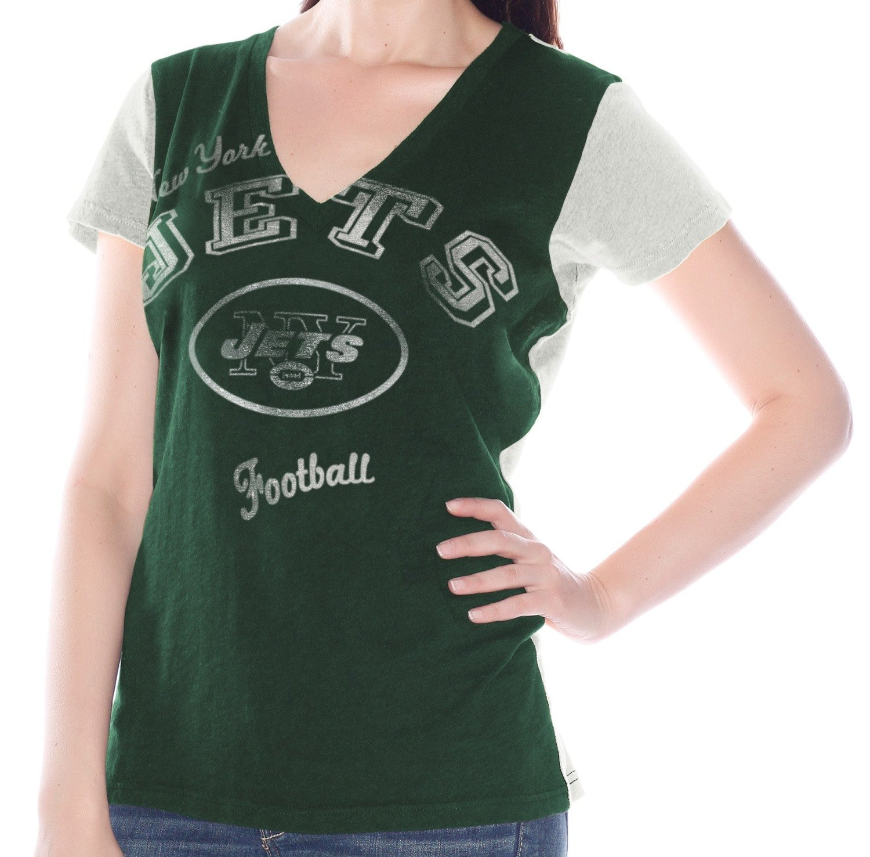 New York Jetsレディースg-iii NFL Fair Catch」VネックTシャツ XL  B00KRN0GGI