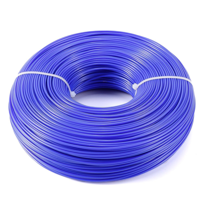Hamimelon Heavy Duty Nylon Strimmer Trimmer Line Brushcutter Cord Wire (1.6mm x 215m, Blue)