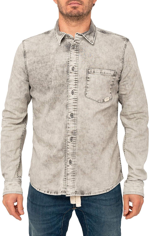 PULLIN COLDGREY - Camisa mixta gris XS: Amazon.es: Ropa y accesorios