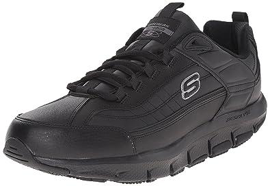 2525311b Skechers for Work Men's Liv Sr Brawney Health Care & Food Service Shoe,  Black,