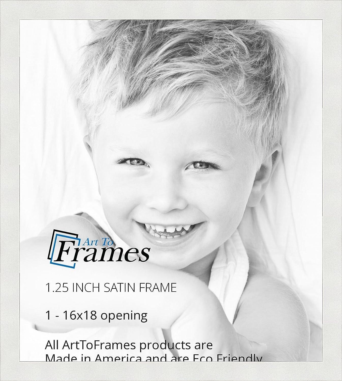Amazon.de: arttoframes 40, 6 x 45, 7 cm Satin weiß Bilderrahmen ...