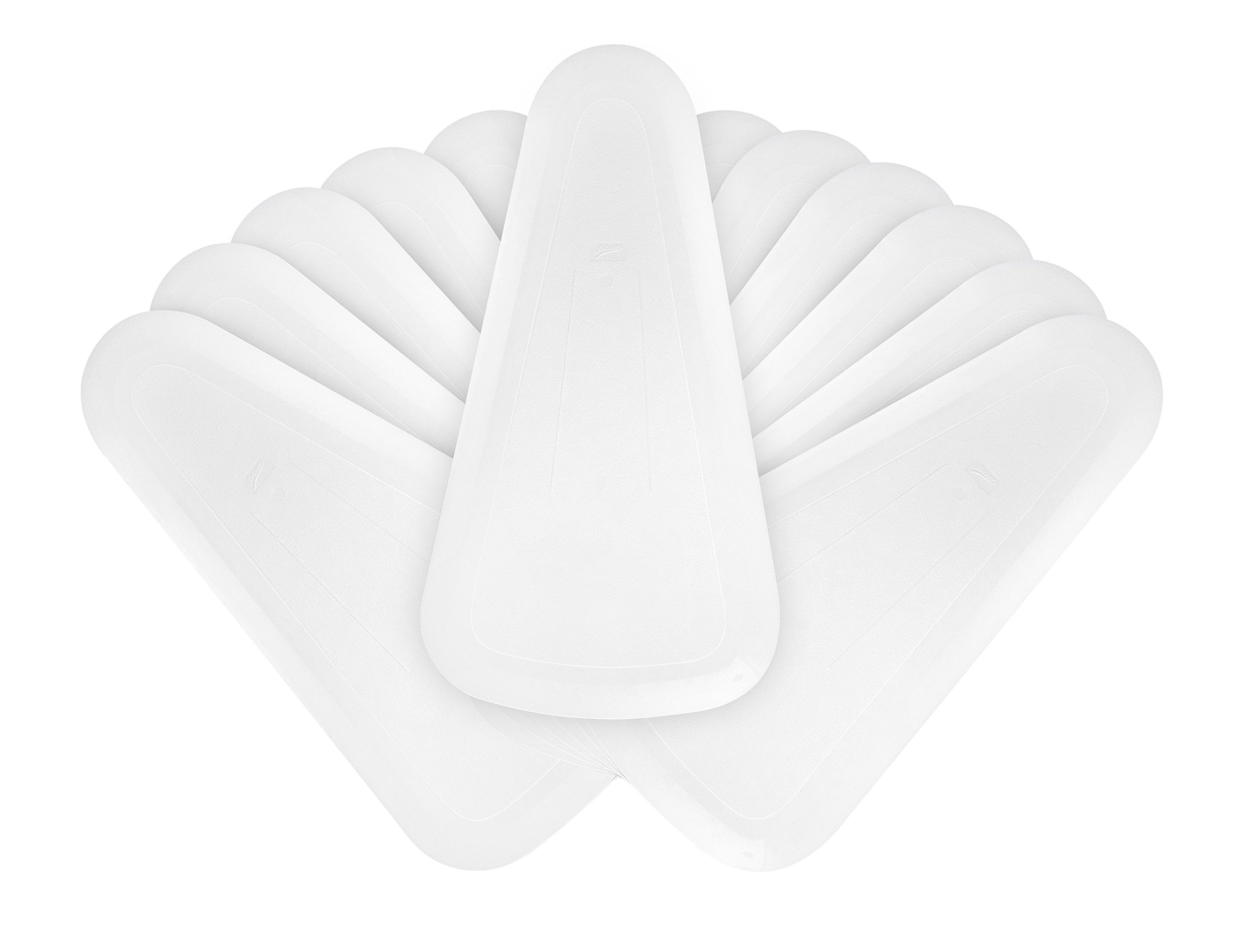 Ateco 1321 Fan Shaped Bowl Scraper Set, 12-Pieces, Flexible Food-safe Plastic