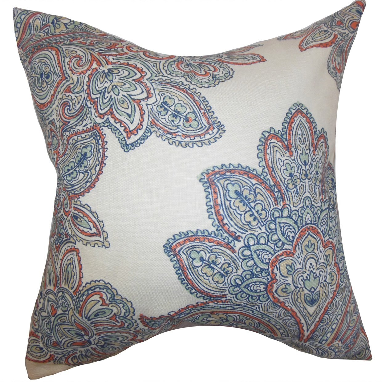 The Pillow Collection Haldis Floral Bedding Sham Blue Standard//20 x 26