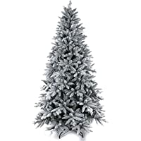 MakeATree 7Ft Artificial Snow Flocked Christmas Tree