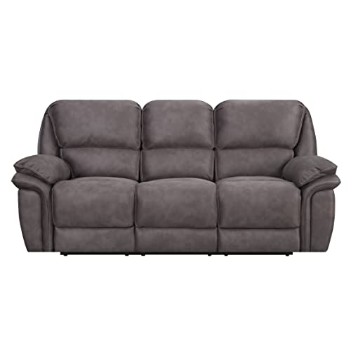 MStar Jackson 3 Seat Dual Power Reclining Sofa With USB Charging Ports And  Memory Foam Seat
