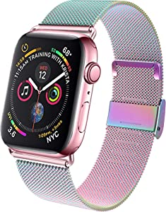 GBPOOT Band Compatible with Apple Watch Band 38mm 40mm 42mm 44mm, Wristband Loop Replacement Band for Iwatch Series 6/SE/5/4/3/2/1,Colorful,38mm/40mm