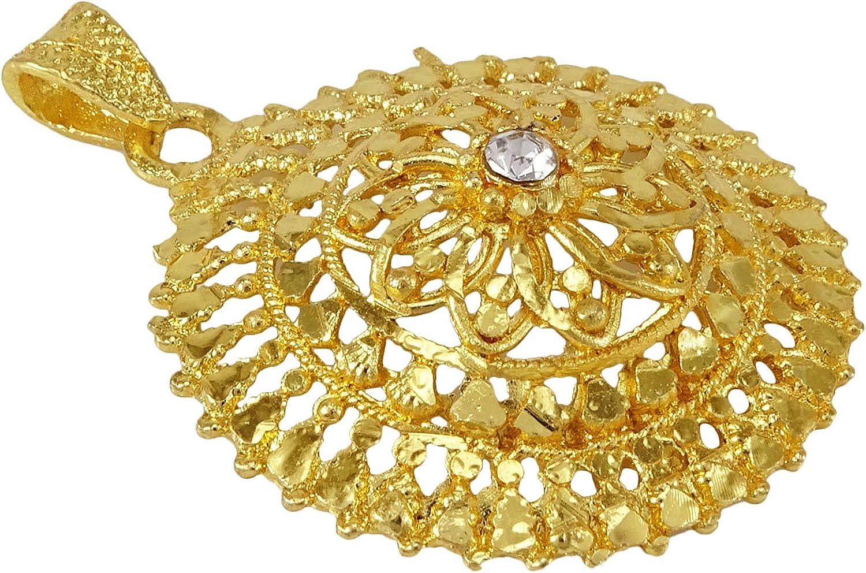 Banithani 18k goldplated cha/îne Traditionnelle Concepteur de Bijoux Pendentif