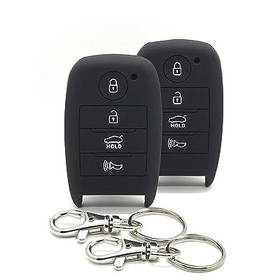 Good Life+Style 2 pcs KIA Smart Key Fob Covers for Keyless Remote with Snap Hooks | Set of 2 Kia Key Fob Protector Cases for 2014 2015 2016 2020 2020 2020 Forte Optima Rio Sedona Sorento Soul Sportage: Electronics