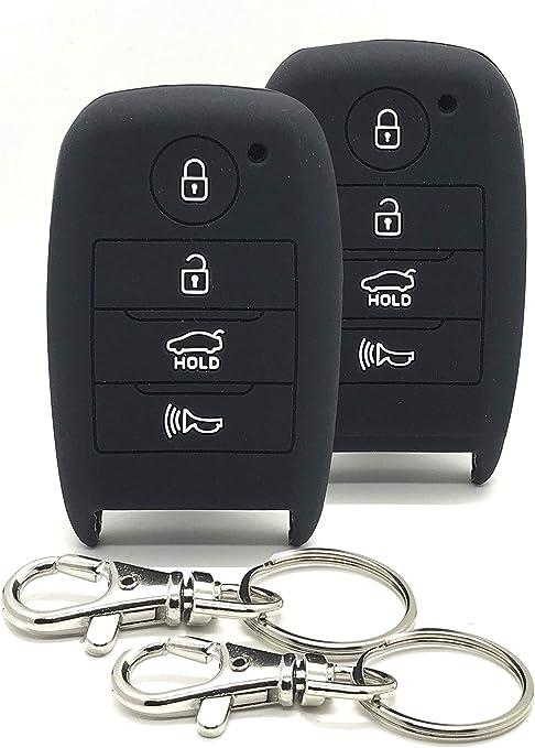 For Hyundai Elantra 2017 2018 Smart Key Black Aluminum Case Cover Holder
