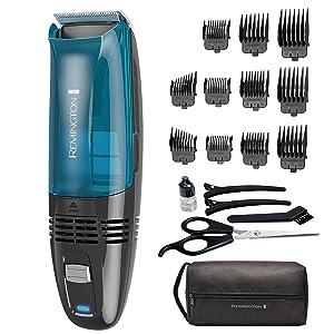 Remington Hc6550 Cordless Vacuum Haircut Kit, Vacuum Beard Trimmer, Hair Clippers for Men (18Piece)