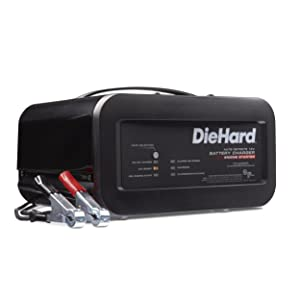 DieHard 71323 12V Shelf Smart Battery Charger and 10/50A Engine Starter