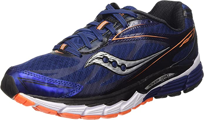 Saucony Men's Ride 8 Running Shoe (Midnight/Black/Orange, 9 D(M) US)
