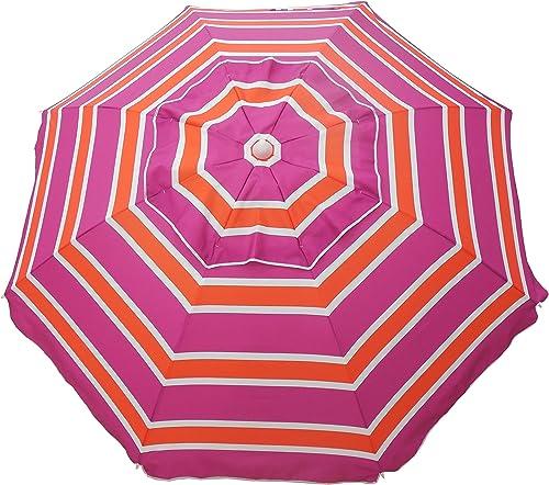 Heininger 1301 Orange Pink Orange and Pink 7 Foot Beach Umbrella