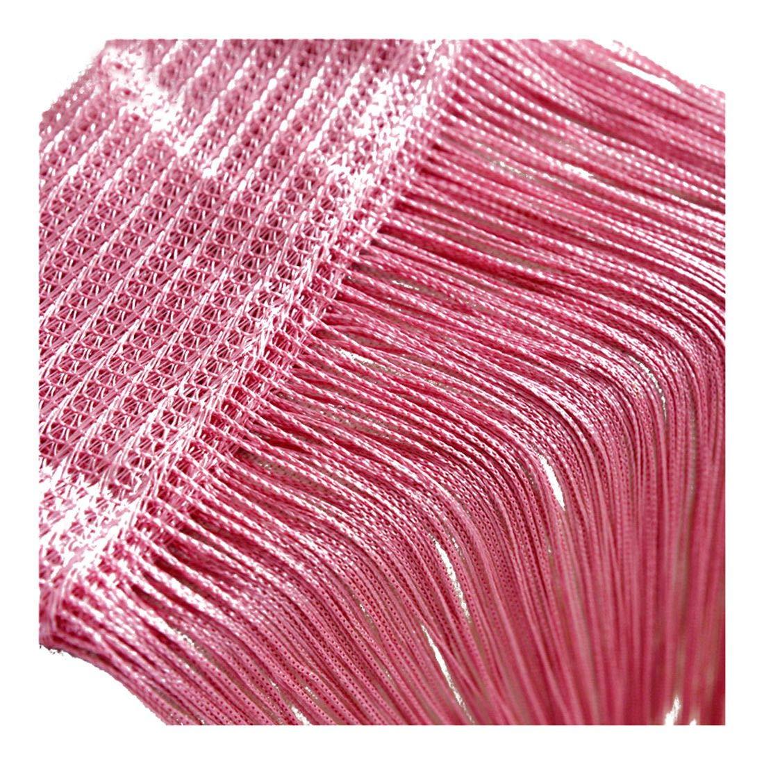 Pinji1 Rideau Fil Rideau Voilage Curtain Porte Fen/être Chambres /à Coucher Cuisine Entr/ée Salon Salle de Bain Rose 200x100cm