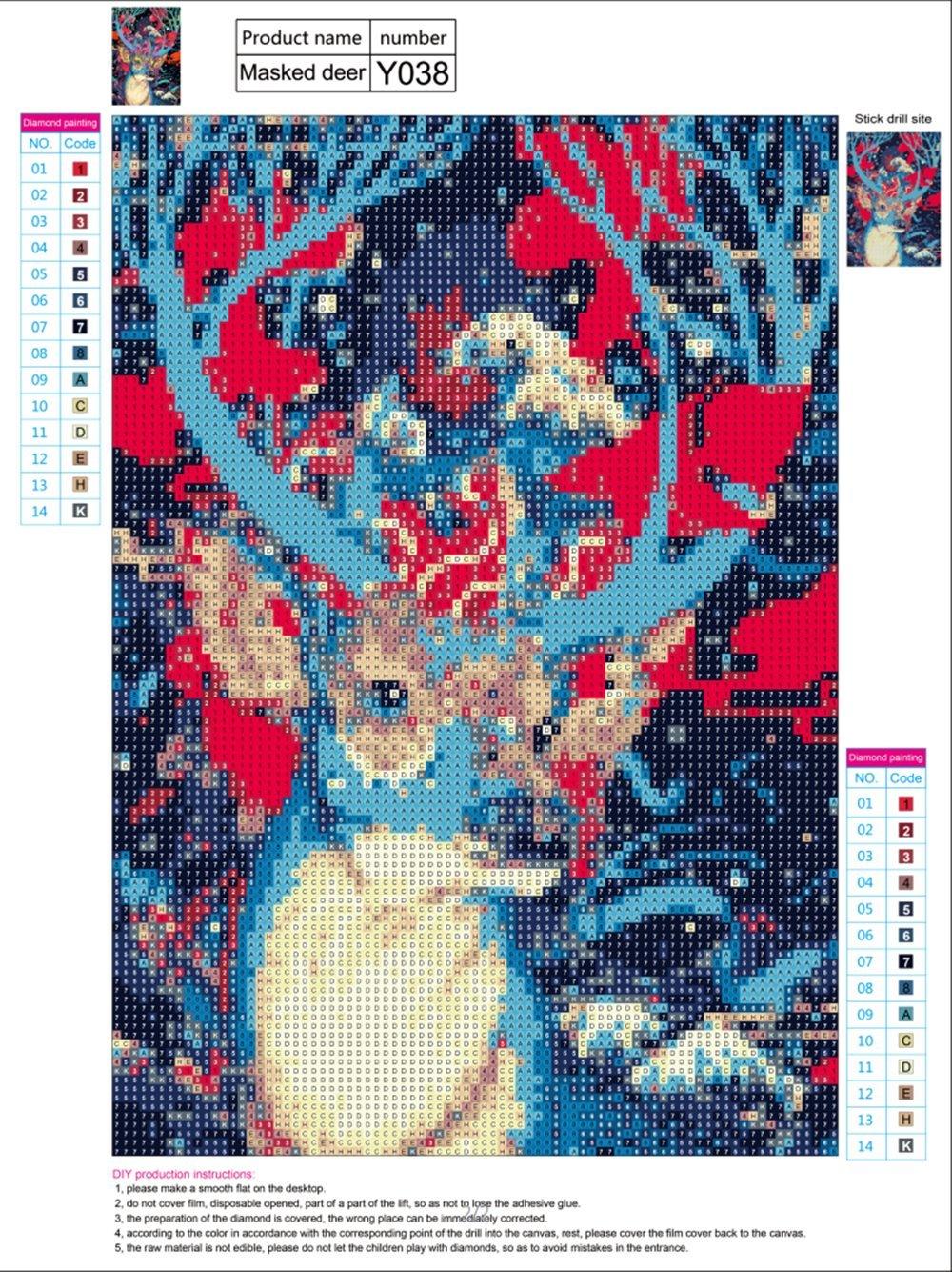 Better Selection Baby Panda Diamond Painting Number Kits Christmas Decorations Full Drill 5D DIY Arts /& Crafts Bling Artwork Decor Set Crystal Rhinestone Gems 12x16 30x40 cm