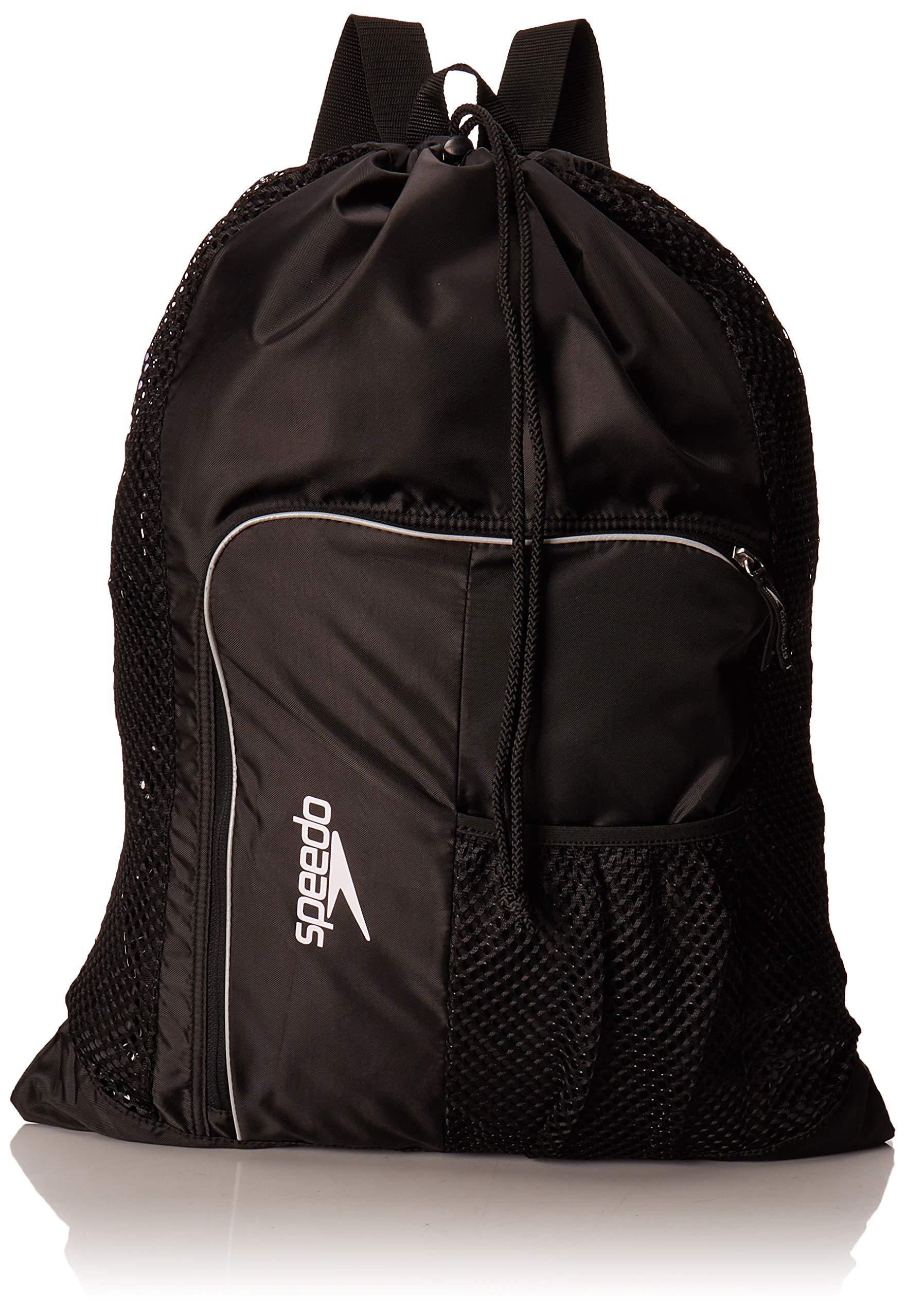 Speedo Deluxe Ventilator Mesh Equipment Bag, Black, 1SZ by Speedo