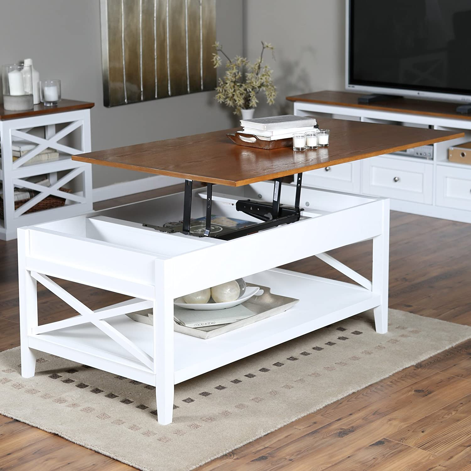 Amazon.com: Belham Living Hampton Storage And Lift Top Coffee Table:  Kitchen U0026 Dining