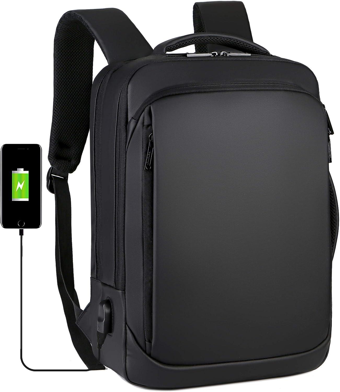 NEW VERSION Convertible Laptop Backpack Bag Shoulder Bag Business Work Briefcase Case Fit 17 inch Laptop, Water Resistant Travel Rucksack Backpack with USB Charging Port Large Notebook Backpack