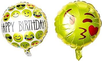 Amazon Ivenf 18 Mylar Reusable Emoji Funny Faces Happy