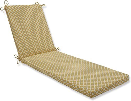 Pillow Perfect Outdoor Indoor Hockley Banana Chaise Lounge Cushion, 80 x 23 , Yellow