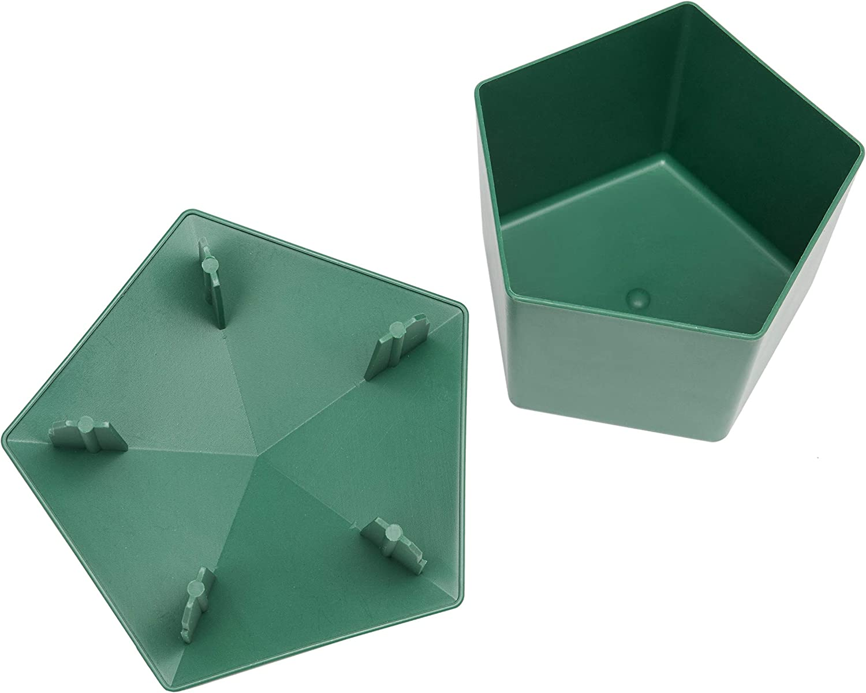 Beslands 5 Pcs Pi/ège /à Escargots 9,9 x 6,1 x 7,1 cm Vert respectueux de lenvironnement Escargots Catcher 3.9 x 2.4 x 2.8 Vert