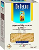 De Cecco Penne Rigate Pasta Kamut Cee, Bio - 6 pezzi da 500 g [3 kg]