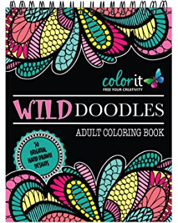 Wild Doodles Adult Coloring Book