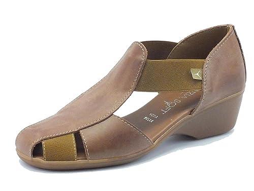 Cinzia Soft Mocasines de Piel Para Mujer Marrón Size: 35 EU: Amazon.es: Zapatos y complementos