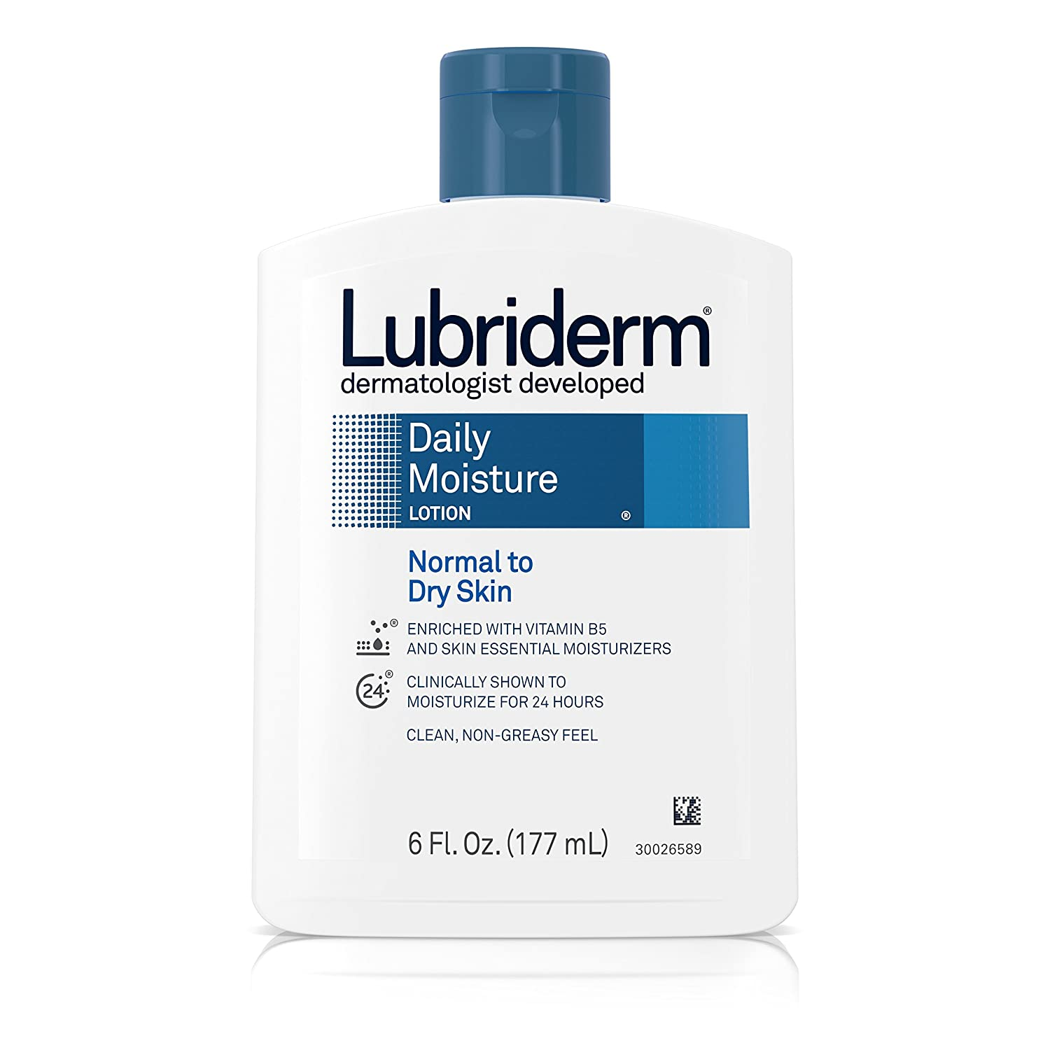 Lubriderm Daily Moisture Lotion, Normal to Dry Skin, 6 oz, 2 pk