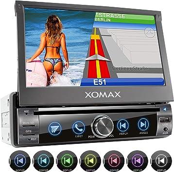 XOMAX XM-DN763 Radio de Coche con Navegador GPS I Mapas de Europa ...