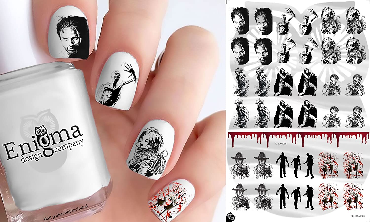 Amazon.com: The Walking Dead Nail Decals Large - Vol I (Set of 38 ...