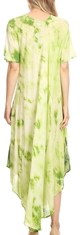 Sakkas Nalani Womens Flowy Caftan Tie Dye Summer Dress Cover up Relax Fit