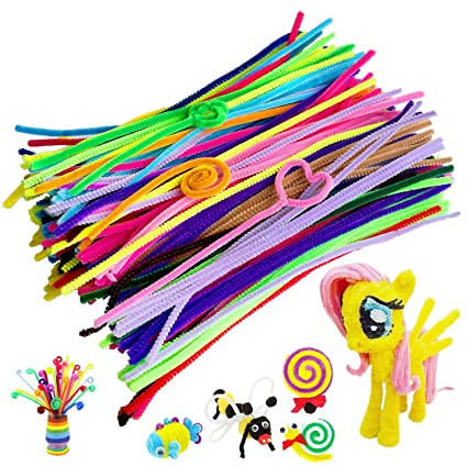 amazon com acerich 300 pcs colored pipe cleaners chenille stems for