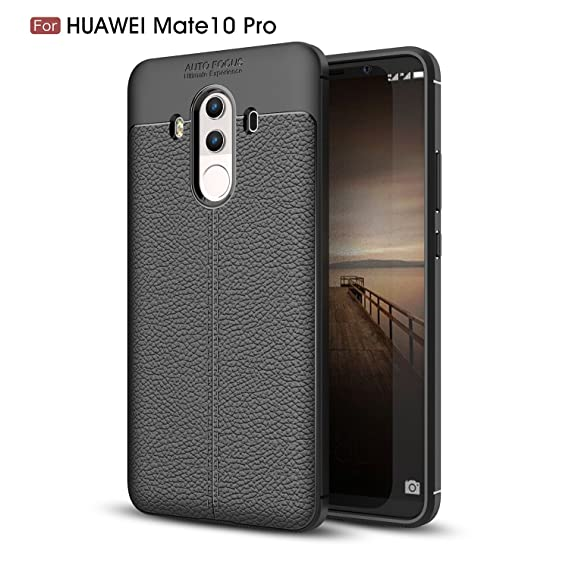 huge discount 52715 9887b HUAWEI MATE 10 PRO, MATE 10 PRO CASE, Torryka Premium TPU [Leather Texture  Design] Slim Fit Flexible Shock Absorbent Drop Protection Protective Cover  ...