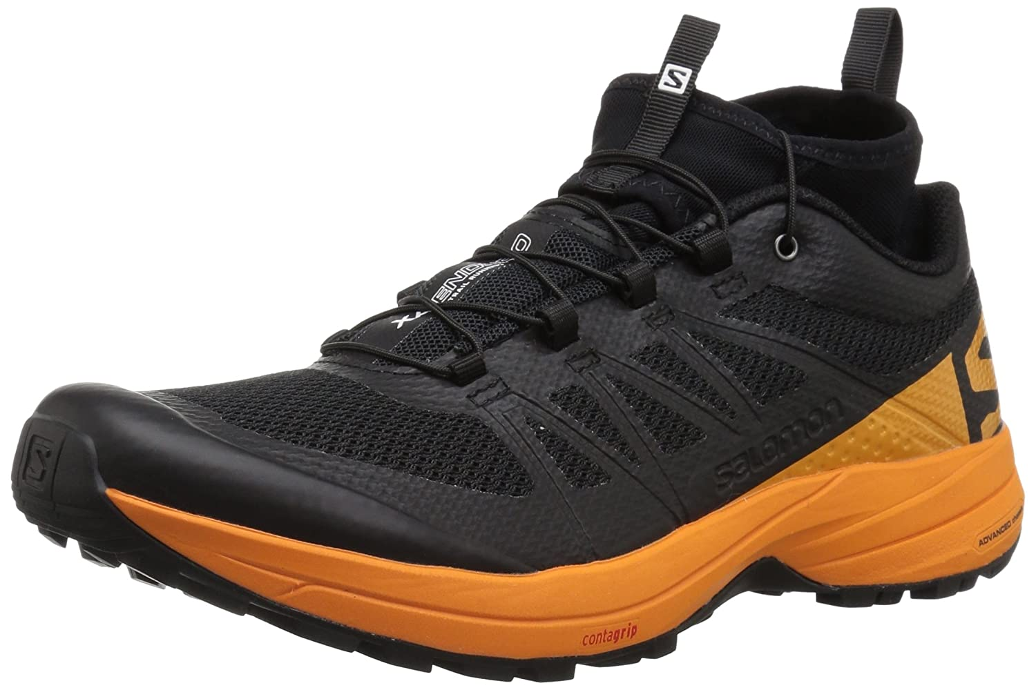 Salomon XA Enduro, Zapatillas de Trail Running para Hombre 46 2/3 EU|Negro (Black/Bright Marigold/Black 000)