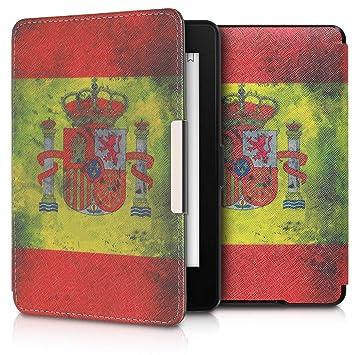 kwmobile Funda para Amazon Kindle Paperwhite - Carcasa para e-Reader de [Cuero sintético] - Case con diseño Bandera española (para Modelos hasta el ...